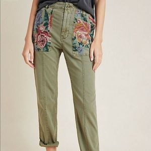 Anthropologie embroidered pant